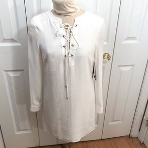 Highline Collective White dress Small NWT